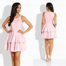 Rózsaszín fodros alkalmi ruha