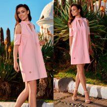 Rózsaszín kivágott alkalmi ruha