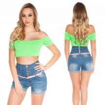 Neonzöld crop top
