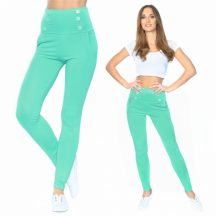 Menta gombos leggings