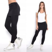 Fekete 2in1 leggings