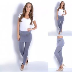 Szürke 2in1 leggings