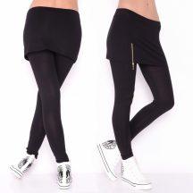 Fekete 2in1 leggings